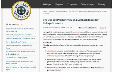 http://www.collegedegree.com/library/college-life/top-100-productivity-and-lifehack-blogs