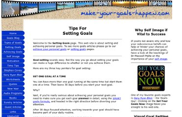 http://www.make-your-goals-happen.com/setting-goals.html