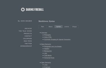 http://daringfireball.net/projects/markdown/syntax