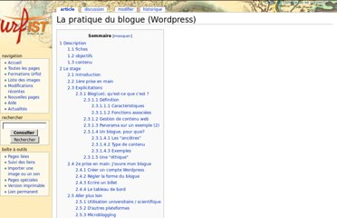 http://wiki-urfist.unice.fr/wiki_urfist/index.php/La_pratique_du_blogue_%28Wordpress%29