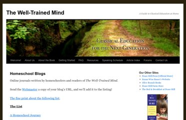 http://www.welltrainedmind.com/homeschool-blogs/