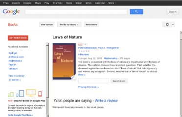 http://books.google.co.in/books/about/Laws_of_Nature.html?id=w0ttLgyKqBsC#v=onepage&q&f=false