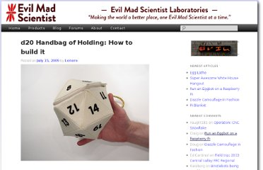http://www.evilmadscientist.com/2009/d20-handbag-of-holding-how-to-build-it/