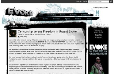 http://www.urgentevoke.com/profiles/blogs/censorship-versus-freedom-in