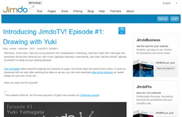 http://www.jimdo.com/2012/06/19/introducing-jimdotv-episode-1-drawing-with-yuki/