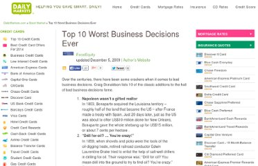 http://www.dailymarkets.com/stock/2009/12/05/top-10-worst-business-decisions-ever/