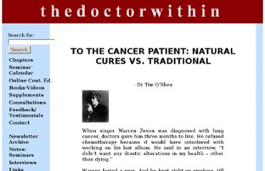 http://www.thedoctorwithin.com/cancer/to-the-cancer-patient/