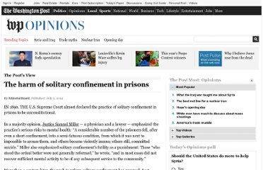 http://www.washingtonpost.com/opinions/the-harm-of-solitary-confinement-in-prisons/2012/07/01/gJQAiNqgGW_story.html