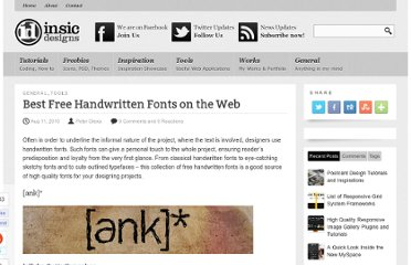 http://blog.insicdesigns.com/2010/08/best-free-handwritten-fonts-on-the-web/