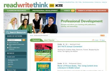 http://www.readwritethink.org/professional-development/