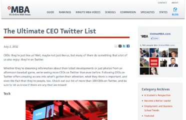http://www.onlinemba.com/blog/the-ultimate-ceo-twitter-list/