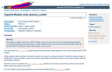 http://httpd.apache.org/docs/trunk/mod/mod_session_cookie.html