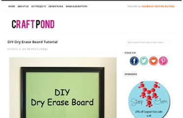 http://craftpond.com/diy-dry-erase-board-tutorial/
