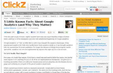 http://www.clickz.com/clickz/column/2188027/little-google-analytics-matter