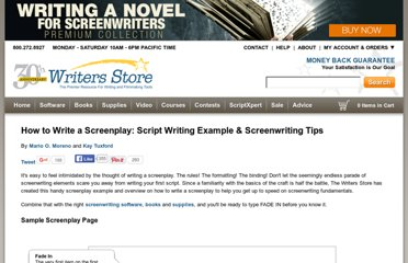 http://www.writersstore.com/how-to-write-a-screenplay-a-guide-to-scriptwriting/