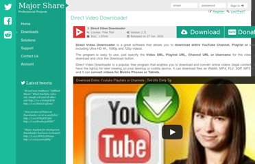 http://www.majorshare.com/direct-youtube-downloader/