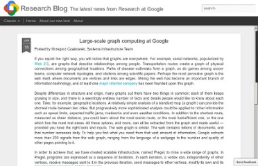 http://googleresearch.blogspot.com/2009/06/large-scale-graph-computing-at-google.html
