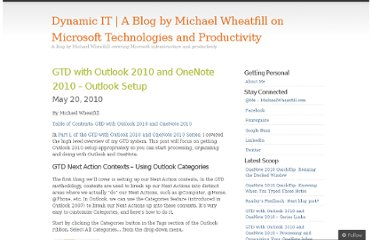 http://dynamicit.wordpress.com/2010/05/20/getting-things-done-with-outlook-2010-and-onenote-2010-setting-up-outlook/