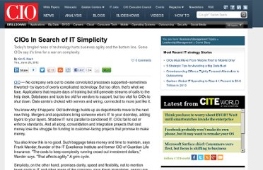 http://www.cio.com/article/708393/CIOs_In_Search_of_IT_Simplicity