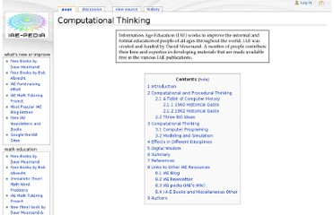 http://iae-pedia.org/Computational_Thinking