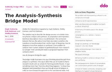 http://www.dubberly.com/articles/interactions-the-analysis-synthesis-bridge-model.html
