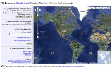 http://www.martwebstudio.net/strike.up.your.gmaps/index.php#