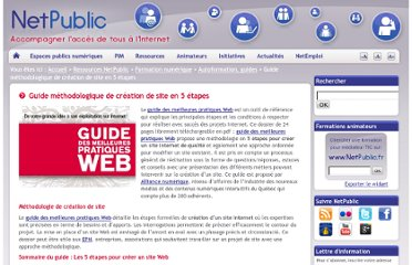 http://www.netpublic.fr/2012/07/guide-methodologique-de-creation-de-site-en-5-etapes-2/