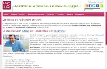 http://www.learn-on-line.be/les-roles-du-formateur-en-ligne