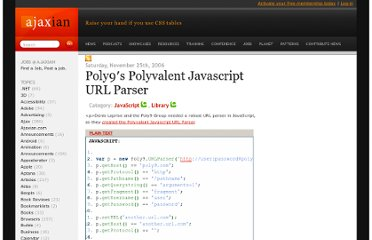 http://ajaxian.com/archives/poly9s-polyvalent-javascript-url-parser