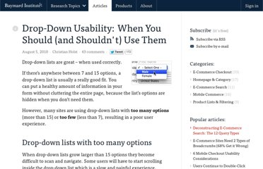 http://baymard.com/blog/drop-down-usability