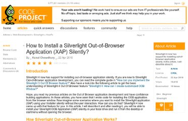 http://www.codeproject.com/Articles/75054/How-to-Install-a-Silverlight-Out-of-Browser-Applic