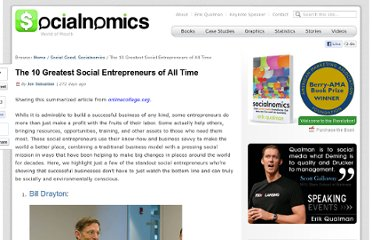 http://www.socialnomics.net/2012/07/03/the-10-greatest-social-entrepreneurs-of-all-time/