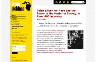 http://www.brainpickings.org/index.php/2012/07/03/ralph-ellison-1966-interview/