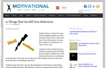 http://www.motivationalwellbeing.com/21-things-that-kill-motivation.html