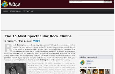http://www.hottnez.com/the-15-most-spectacular-rock-climbs/