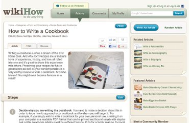 http://www.wikihow.com/Write-a-Cookbook
