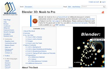 http://en.wikibooks.org/wiki/Blender_3D:_Noob_to_Pro#Advanced_Tutorials