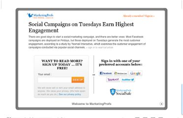 http://www.marketingprofs.com/charts/2012/8324/social-campaigns-on-tuesdays-earn-highest-engagement
