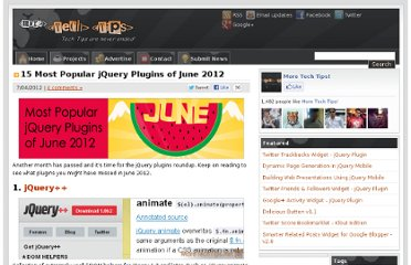 http://www.moretechtips.net/2012/07/15-most-popular-jquery-plugins-of-june.html