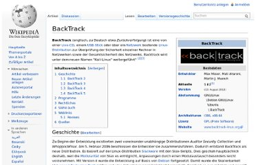 http://de.wikipedia.org/wiki/BackTrack