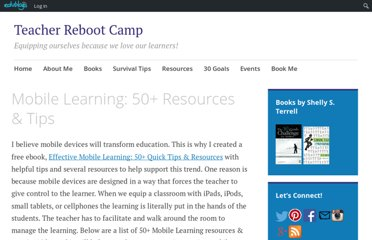 http://teacherbootcamp.edublogs.org/free-ebooks/mobile-learning-50-resources-tips/