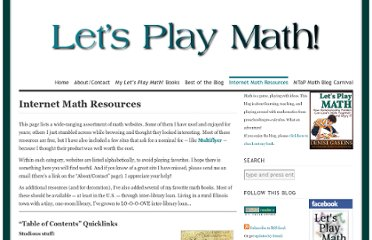 http://letsplaymath.net/free-mostly-math-resources-on-the-internet/