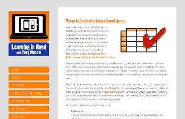 http://learninginhand.com/blog/ways-to-evaluate-educational-apps.html#