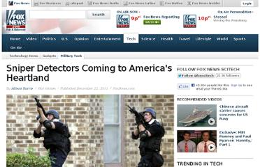 http://www.foxnews.com/tech/2011/12/22/sniper-detectors-coming-to-americas-heartland/