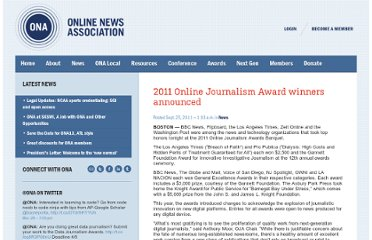 http://journalists.org/2011/09/25/2011-online-journalism-award-winners-announced/