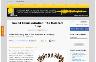 http://soundcommunication.holdcom.com/bid/75128/Audio-Marketing-Script-Tip-Brainstorm-Correctly