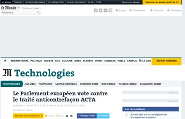 http://www.lemonde.fr/technologies/article/2012/07/04/le-parlement-europeen-vote-contre-le-traite-anti-contrefacon-acta_1729032_651865.html
