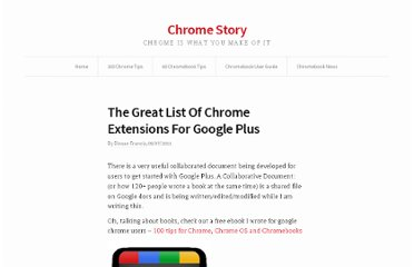 http://www.chromestory.com/2011/07/top-ten-10-chrome-extensions-for-google/