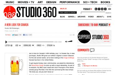http://www.studio360.org/2012/jun/29/a-new-look-for-canada/