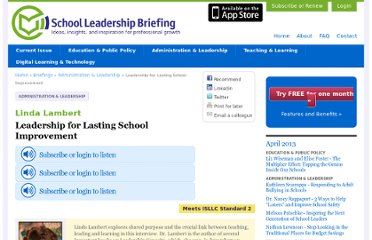 http://www.schoolbriefing.com/1057/leadership-for-lasting-school-improvement/